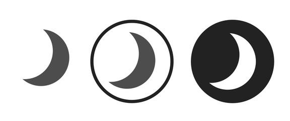 Waning crescent moon icon . web icon set .vector illustration