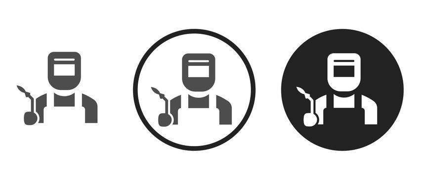 Welder icon . web icon set .vector illustration