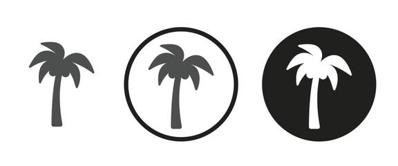 Coconut tree icon . web icon set .vector illustration