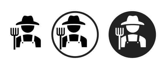 Obraz Farmer icon . web icon set .vector illustration - fototapety do salonu