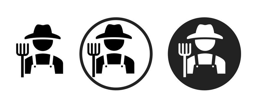 Farmer icon . web icon set .vector illustration