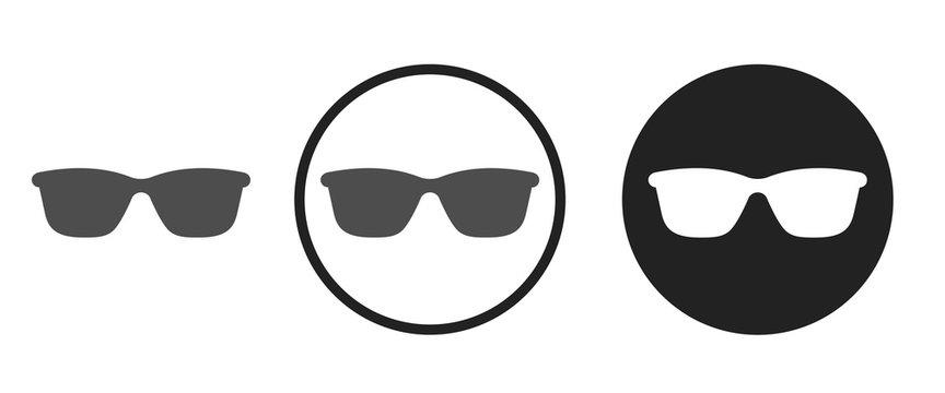 Sunglasses icon . web icon set .vector illustration