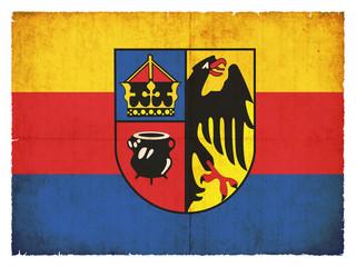 Grunge-Flagge Amrum (Schleswig-Holstein, Deutschland)