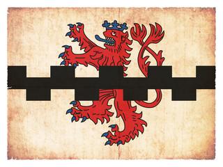 Grunge-Flagge Leverkusen (Nordrhein-Westfalen, Deutschland)