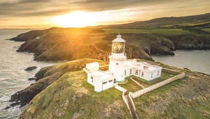 Lighthouse on Pembrokeshire Coast, Wales UK