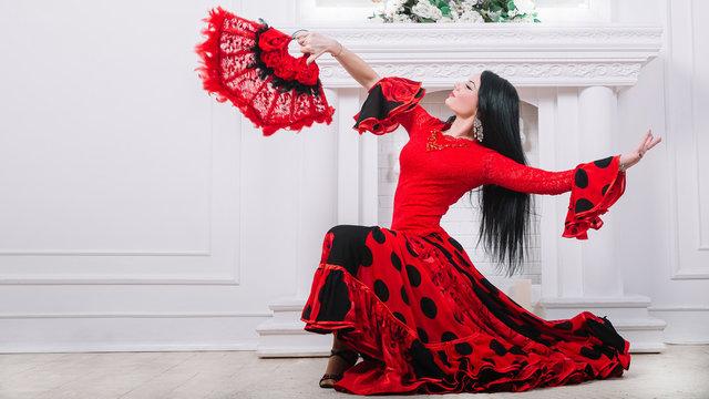 beautiful flamenco dancers performing a fiery dance
