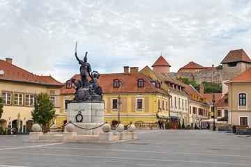 Wall Mural - Monument of Istvan Dobo, Eger, Hungary