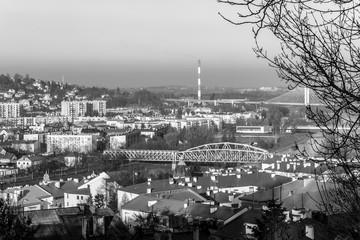 Fototapeta Miasto Przemyśl czarno białe