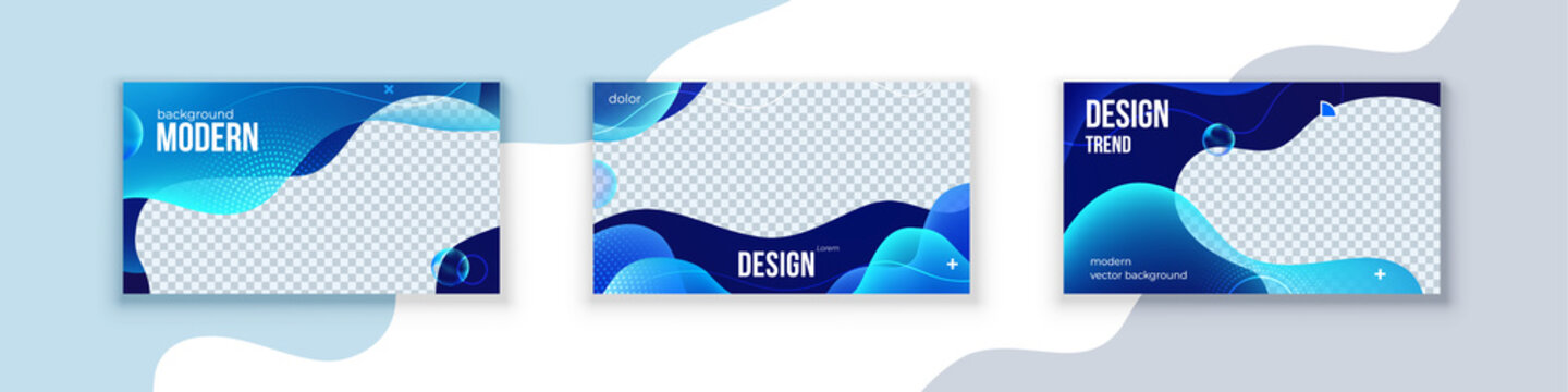Liquid abstract banner design. Fluid Vector shaped background. Modern Graphic Template Banner pattern for social media header and post image