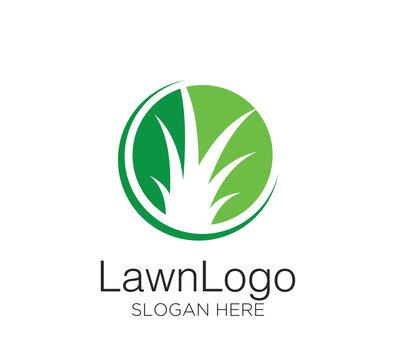 Lawn logo vector design concept