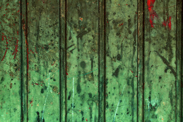 Wall Mural - Grunge green metallic background