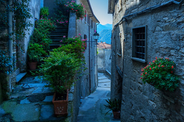 Printed roller blinds Narrow alley narrow alley in a tuscany village
