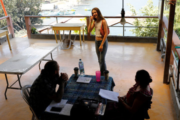 Backpacker and Spanish language student Daehler following the outbreak of coronavirus disease (COVID-19) in San Pedro La Laguna