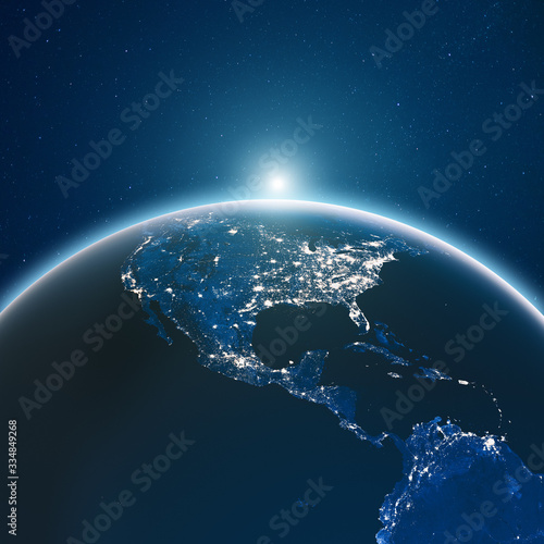 Wall mural Earth from space