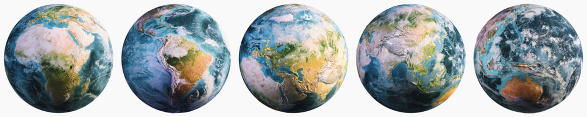 Wall Mural - Planet Earth continents geography