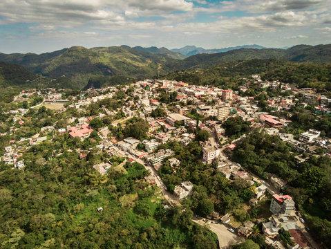 Aerial view of Xilitla in San Luis Potosi Mexico