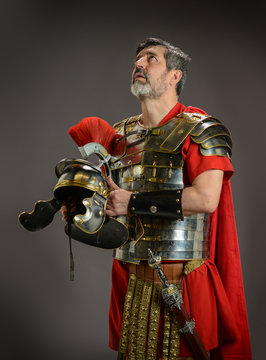 Roman soldier looking up