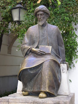 Cordoba, Spain, Statue of Maimonides, Close-Up