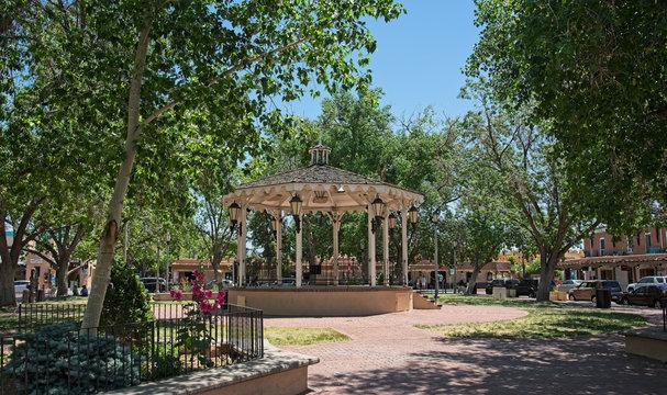 gazebo in Old Town, Albuquerque, New Mexico