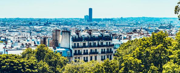 Printed kitchen splashbacks Paris Paris Landscape over city