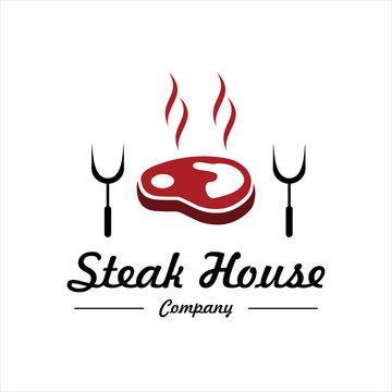 steak house logo inspiration. vector illustration concept, vintage design. vector illustration concept.