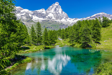 Matterhorn and Blue lake