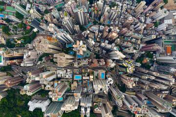 Wall Mural - Hong Kong city from top