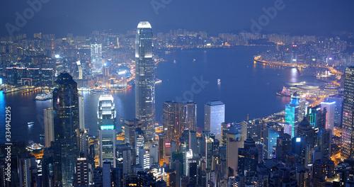 Wall mural  Hong Kong city at night