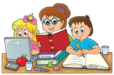 Photo sur Aluminium Enfants Home schooling theme image 1