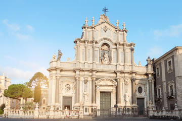 Catania baroque cathedral of Sant'Agata in Sicily, Italy