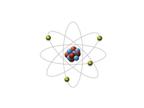 Rutherford's model shows that an atom is mostly empty space, with electrons orbiting a fixed, positively charged nucleus in set, predictable paths.