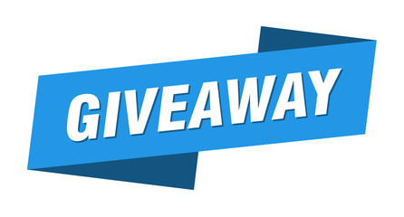 giveaway banner template. giveaway ribbon label sign