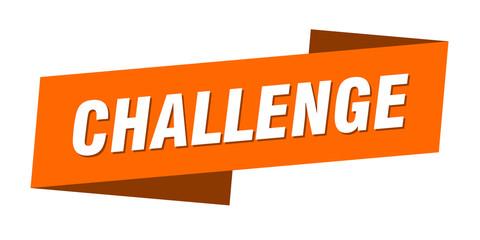 challenge banner template. challenge ribbon label sign