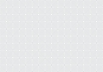Abstract geometric pattern by rounded rhombuses, diamonds. Samless vector background. Light white trend texture