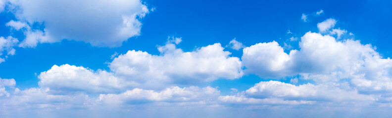 Panorama Blue sky and white clouds. Bfluffy cloud in the blue sky background Wall mural