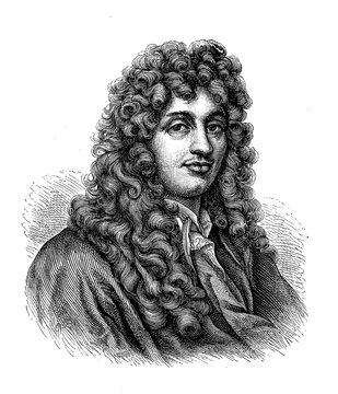Portrait of Christiaan Huygens (1629 - 1695) Dutch physicist, mathematician, astronomer and inventor