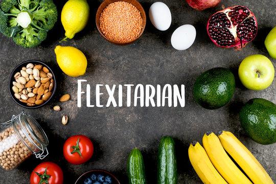 Flexitarian Diet Concept.