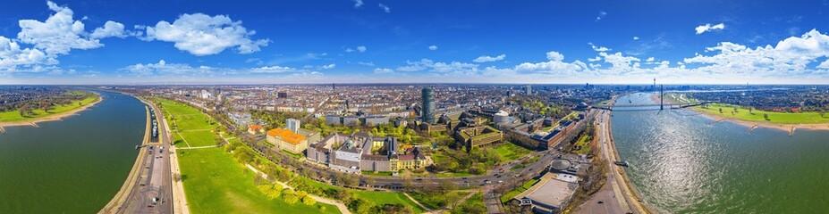 city of Düsseldorf Germany 360° airpano Fototapete