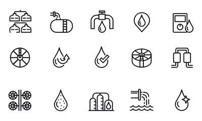 water treatment icons vector design black and white