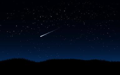 starry night sky Fotobehang