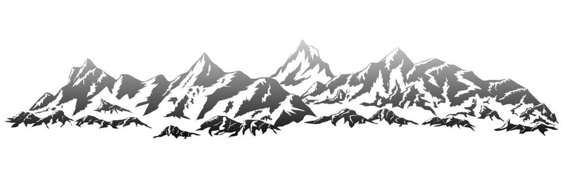 mountains silhouettes