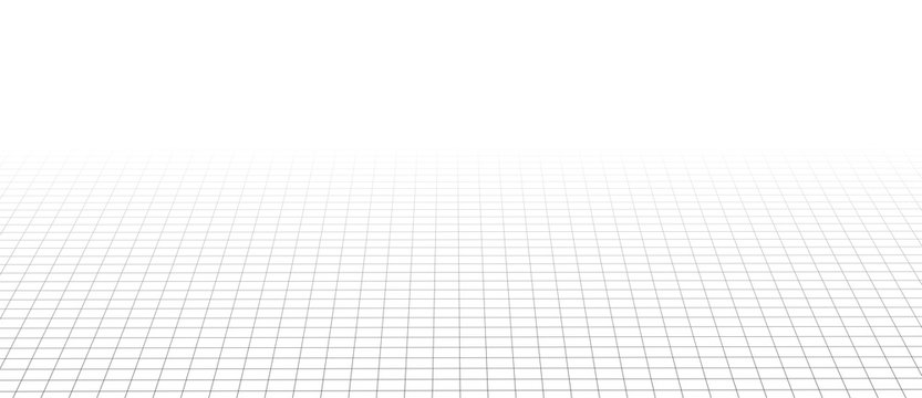 Abstract perspective black grid. Wireframe landscape. Vector illustration.