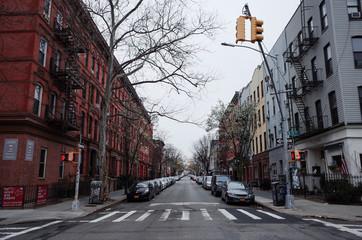 Coronavirus Covid 19 New York City Brooklyn Williamsburg Buildings Empty Street View Fotomurales