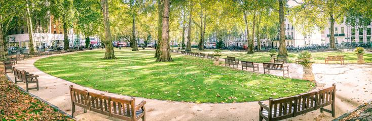 Berkeley Square panorama, Mayfair London Fotobehang