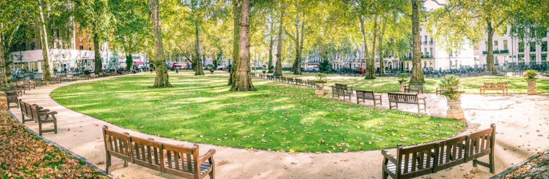 Berkeley Square panorama, Mayfair London