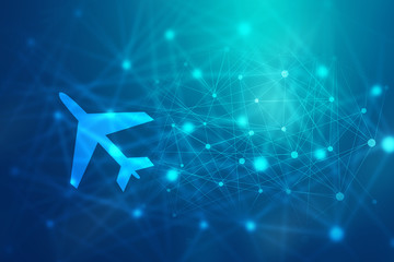 2D illustration Airplane mode