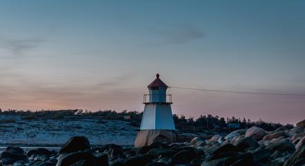 Latarnia morska w Parku Narodowym Ytre Hvaler w Norwegii