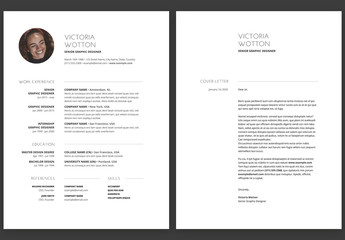 Modern Minimalist Resume and Cover Letter Layout