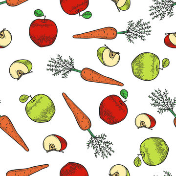 apple and carrot pattern