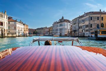 Fototapeten Gondeln Boat on Grand Canal